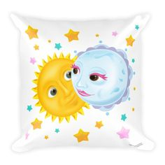 Solar Eclipse Throw Pillow - Kristoff & Anna - Path of Totality August 21, 2017