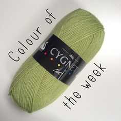 Let's do something new!  From now on every Friday I'm going to have a colour of the week. That colour will be reduced in price for one day only.  First up is Cygnet DK in Kiwi! It's a really lovely pale green and today you can grab it for just 1.50 per 100g ball instead of the usual 1.70. No code needed. Price will go up at midnight tonight GMT.  #crochet #cygnetDK #yarnshop #yarnstash #feedyourstash #yarnaddict #cygnetyarns #cygnetyarn #instacrochet #instaknit #snufflebeanyarn…