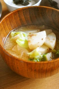 焼き長芋と焼きキャベツのお味噌汁