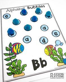 Identify the focus letter & cover each match. -Ocean Worksheets Preschool