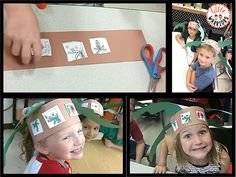 Little Warriors: After sequencing the events as a class, it was time to sequence them on our own. We cut out the pictures and glued them in the correct order on a brown strip. I thought, hey! Why not make sequencing hats! So, we added some leaves and turned our sequencing strips into Chicka hats! So cute!!!