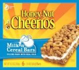General Mills, Honey Nut Cheerios, Milk 'n Cereal Bars, 6-Count, 8.5oz Box (Pack of 4)