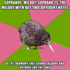 As an alto, I can confirm this is 100% true. This or we sing one note the entire song.