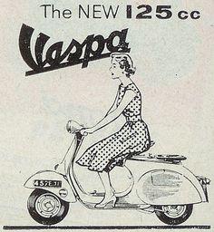 vintage #Vespa poster for #adoptanobject   via @nicola_penny