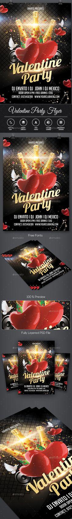 Valentine Day Flyer Template PSD. Download here: http://graphicriver.net/item/valentine-day-flyer/14810876?ref=ksioks