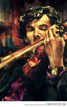Marvelous Sherlock fanart. THE GAME, MY DEAR WATSON, IS AFOOT!