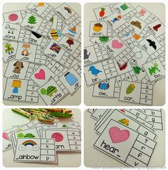 Beginning & Ending Sounds Clip Cards (from Doodle Bugs Teaching) Phonics Activities, Alphabet Activities, Classroom Activities, Teaching Phonics, Work Activities, Kindergarten Literacy Stations, Early Literacy, Kindergarten Class, Literacy Centers