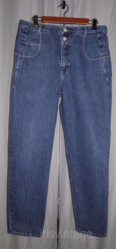 Vintage-1990-039-s-Guess-Pascal-075-Denim-Jeans-Tapered-Leg-Loose-Fit-33x31-actual