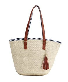 cdca29318e7df4 Sornean Summer Straw Beach Bag Handbags Shoulder Bag Tote,cotton lining,Top  Leather Handle-Eco Friendly (Off white Medium