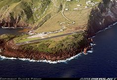Yrausquin Airport, on the Island of Saba, Caribbean.