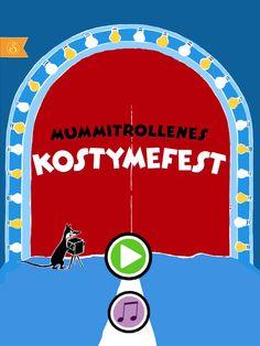 Mummitrollenes kostymefest https://itunes.apple.com/no/app/moomin-costume-party/id584735277  https://play.google.com/store/apps/details?id=com.spinfy.pukuleikki=no
