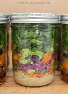Asian Infusion Salad ~ How to whip up those salads in a jar (the do and don't) from www.blessthismessplease.com