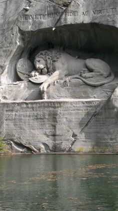 Lion Monument in Lucerne, Switzerland. Large HD