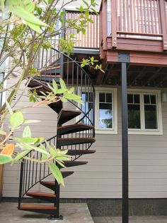 Exterior Design Exterior stairs with wooden steps