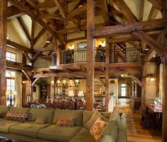 Great Rm in the reclaimed barn home