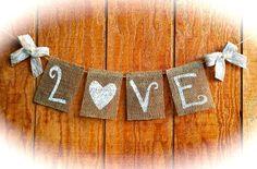 Love Burlap Banner Wedding Love Burlap Banner by QueensBanners