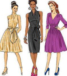 Wrap Dress Pattern Free | Butterick Sewing Pattern Misses Wrap Dress With Plus Size Full Figure ...