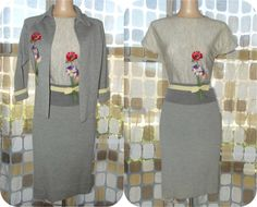 Vintage 50s 60s Dress Set  1950s Wool Skirt Set  by IntrigueU4Ever