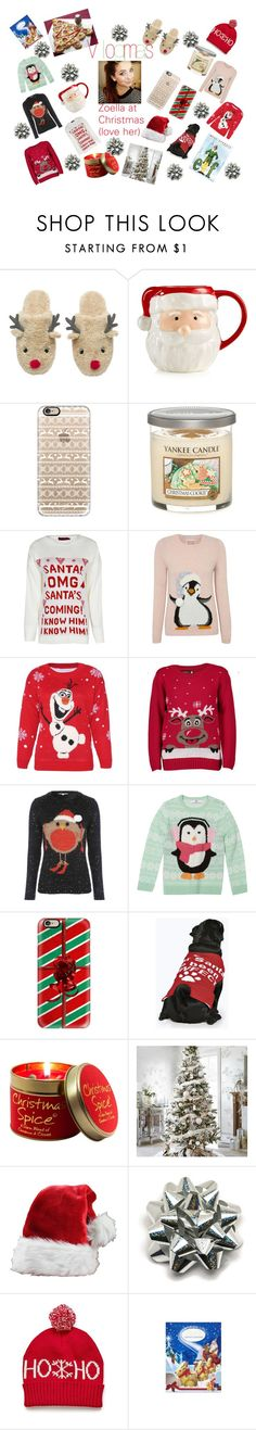 """""""Zoella at Christmas (love her)"""" by melissascully on Polyvore featuring beauty, Martha Stewart, Casetify, Yankee Candle, George, Disney, Boohoo, Lily-Flame and Lindt"""