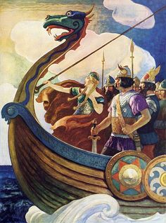 Queen Astrid - by  N.C. Wyeth for P-E Fronning,  http://martinklasch.blogspot.ca/