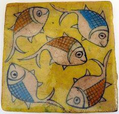 Goldfish - ceramic tile