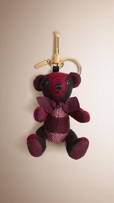 Plum Thomas Bear Charm in Check Cashmere - Image 1