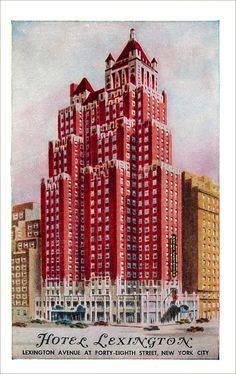 Hotel Lexington, New York postcard | Flickr - Photo Sharing!