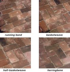 Brick paving patterns and tutorial - brick Red Brick Paving, Brick Paver Patio, Brick Pathway, Brick Courtyard, Brick Driveway, Driveway Ideas, Concrete Pavers, Paving Ideas, Landscaping Ideas