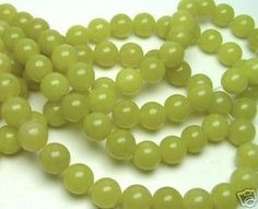 15 6mm round olive jade loose beads 15 strand by soyon on Etsy, $12.00