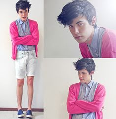 cute pink cardigan