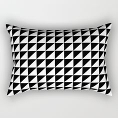 Buy Black and white retro  Rectangular Pillow by xiari. Worldwide shipping available at Society6.com. Just one of millions of high quality products available. #scandinavian #retro #black #white #blackandwhite #triangles #geometry #pattern #vintage #midcenturymodern #midcentury #1950 #50s #interiordesign #design #interiors #decor #decoration #square #pillow