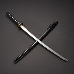 """From the Musashi Platinum Series comes this intricately hand crafted limited edition """"Tamahagane Katana"""" forged by Master sword smith Takemoto. Katana Swords, Samurai Swords, Armas Ninja, Master Sword, Ninja Weapons, Japanese Sword, High Carbon Steel, Will Smith, Guns"""