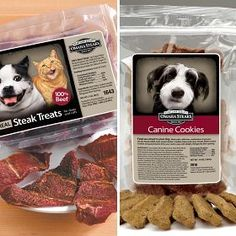 Omaha Steak Pet Treat Snack Pack  -These 100% natural & SAFE   (WARNING: Jerky & treats using ingredients from China & other countries HAS been linked to several pet deaths; yet they are not removing them from shelves)