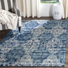 Shop for Safavieh Evoke Vintage Royal Blue/ Ivory Distressed Rug (10' x 14'). Get free shipping at Overstock.com - Your Online Home Decor Outlet Store! Get 5% in rewards with Club O! - 18661213