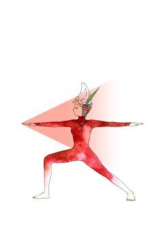 #postura de guerreiro #yoga desenho por Minne