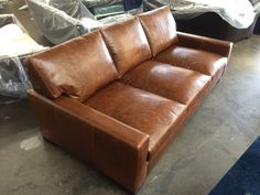 This Customer Started With Our Standard Braxton Leather Sofa Increased The Length To And Depth S Order Was