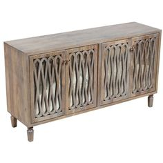 Shop for Porter Havana Grey Wash Sustainable Solid Mango Sideboard with Mercury Style Glass and 4 Doors. Get free delivery at Overstock.com - Your Online Furniture Store! Get 5% in rewards with Club O!