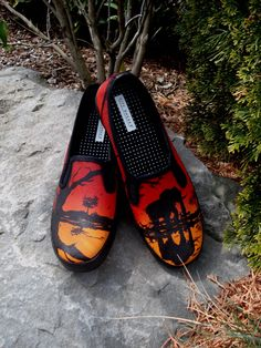 Hand Painted Shoes - African Sunset.