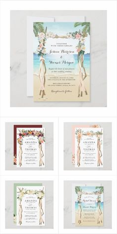 Wedding Arch Themed Invitations, Cards, Stationery and more. Summer Wedding Invitations, Wedding Invitation Design, Amanda Thomas, Wedding Arch Flowers, Wedding Themes, Flower Decorations, Big Day, Stationery, Presents