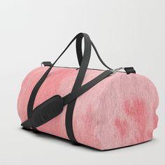 Hand drawn pink watercolor texture Duffle Bag
