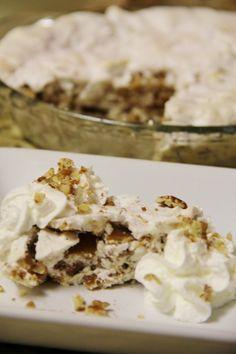 Butternut Brownie Pie....copycat of Luby's famous pie.  YUM!