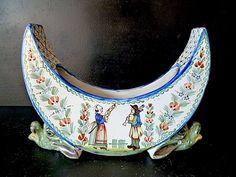 Vase Céramique Croissant DE Lune HR Quimper Henriot XIX XX 19th | eBay