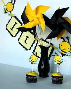 Bumble Bee Party Set for 12 by designsbymarygrace on Etsy, $65.00
