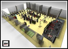 3D gym plan, with all the details.