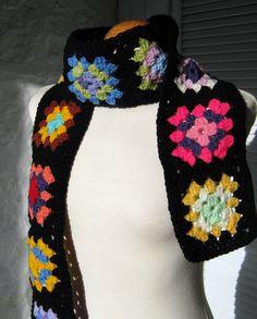 Traditional Black Granny Square (handmade gift idea for Mom)