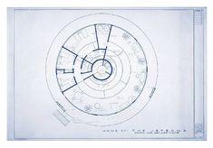 Jetsons House Floorplan reconstructed by architect Mark Bennett.