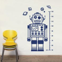 Decal Robot Wall Sticker Decal Boys Room | The Block Shop - Channel 9 $70