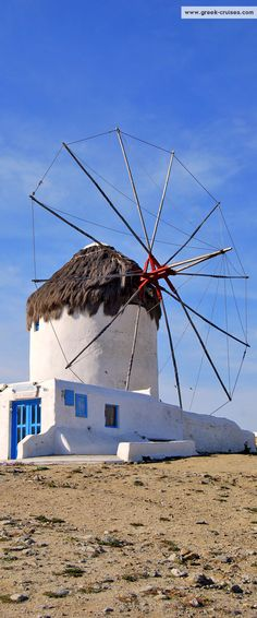 Mykonos windmill, #Greece