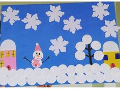 Winter craft and project idea for preschoolers Winter Craft, Project Ideas, Projects, Art Ideas, Homeschool, Flag, Kids Rugs, Crafts, Decor