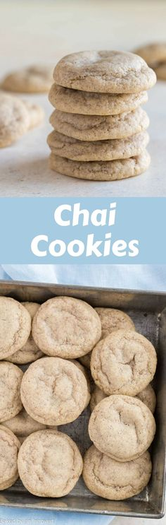 Melt in your mouth Chai Cookies are full of cozy winter flavors! They are so soft and pillowy with the best combination of cozy spices. via @introvertbaker